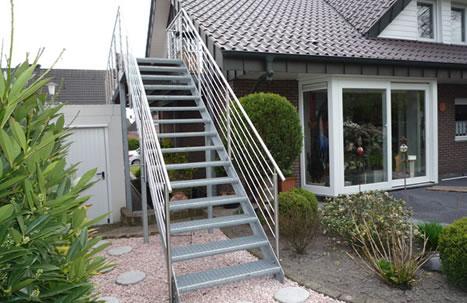 Treppenanlagen und Geländer
